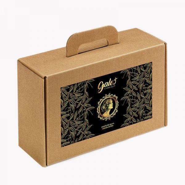 pack 4 botellas - olivar de moura galeo frontal